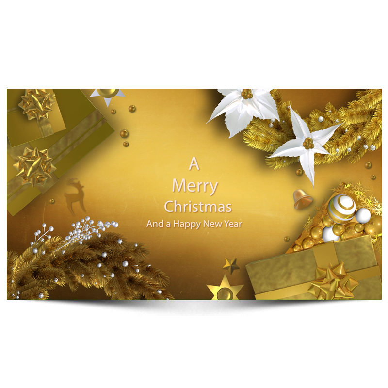 Christmas And New Year Greetings Video Designing Dream Designers